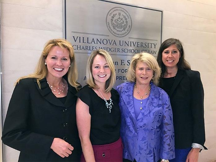 (Left to Right) Associate Dean Michelle M. Dempsey, JD, Co-founder of the CSE; Sarah K. Robinson, JD, Clinical Fellow; Carole Landis, MSS, LCSW; Shea M. Rhodes, JD, Director and Co-Founder of the CSE Institute.